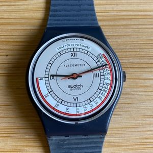 NWT vintage 1987 Swatch watch Pulsometer